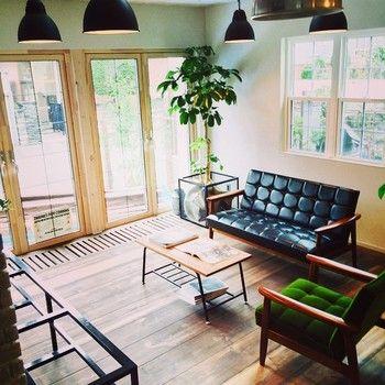 カリモク60のある部屋。 打ち合わせスペースと言う事ですが、素敵な空間です。