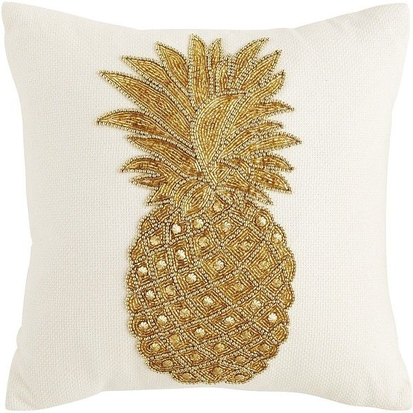 Pier 1 Imports Tropical Beaded Pineapple Velvet Pillow (€28) ❤ liked on Polyvore featuring home, home decor, throw pillows, beige throw pillows, tropical home decor, pier 1 imports, cream throw pillows and beaded accent pillows