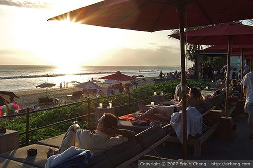 Ku De Ta, Bali, Indonesia - amazing sunset along Seminyak Beach