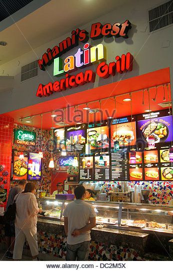 Mall of America Food Court Restaurants | ... Mall food court restaurant Miami Best Latin American Grill counter