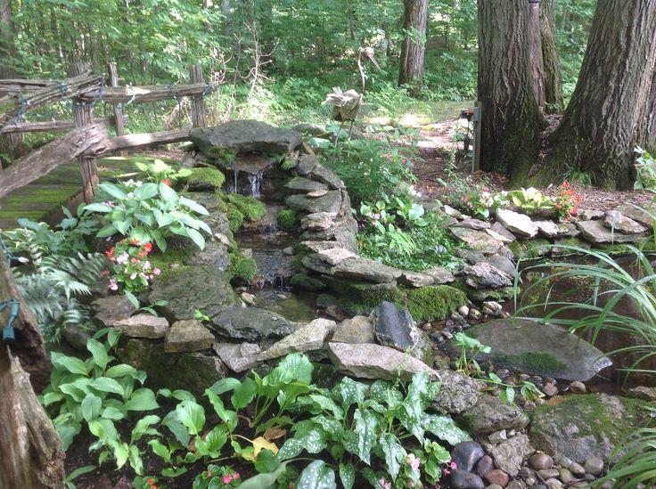 Waterfalls and water garden.