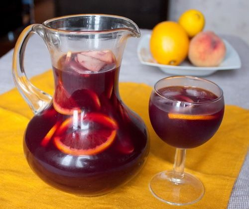 Sangria is a red dry wine and brandy