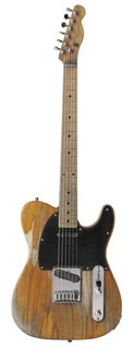Bruce Springsteens Fender Esquire. Bruce purchased the guitar – which is a hybrid of a Fender Esquire neck and a Fender Telecaster body — shortly after he signed with Columbia Records in 1972. The became iconic after it was featured on the cover of Born to Run and, in recent years, fans would applaud when Springsteen put it on and played it in concert. The guitar was most recently played at the Super Bowl. It now resides at the RRHOF in Cleveland.