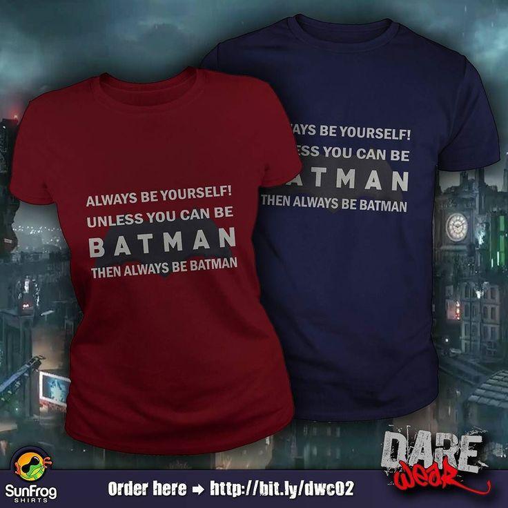 I am Batman! Order Here  http://bit.ly/dwc02  #batman #unique #tshirt #fashion #sunfrogshirts  Link to stores in bio!