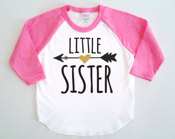 Little Sister Poly Cotton 3/4 Raglan Sleeve by SevenMilesPerSecond