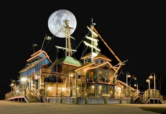 Located in Elkin, North Carolina — seemingly in the middle of nowhere — Pirate's Landing Steak and Seafood House (errr, ship?) dishes up more than just tasty food.