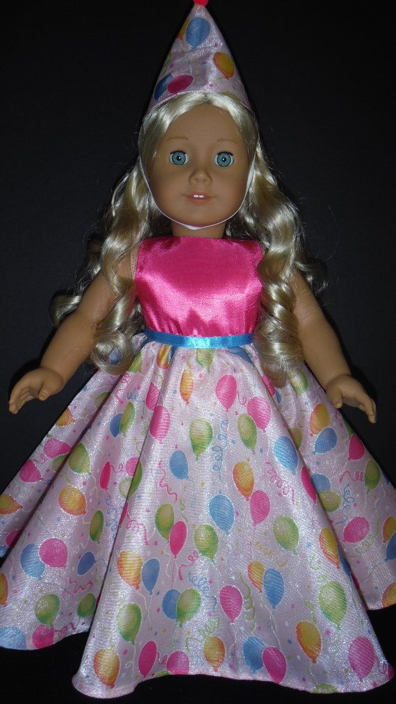 American Girl doll clothes  Birthday Balloon Gown by susiestitchit, $17.00
