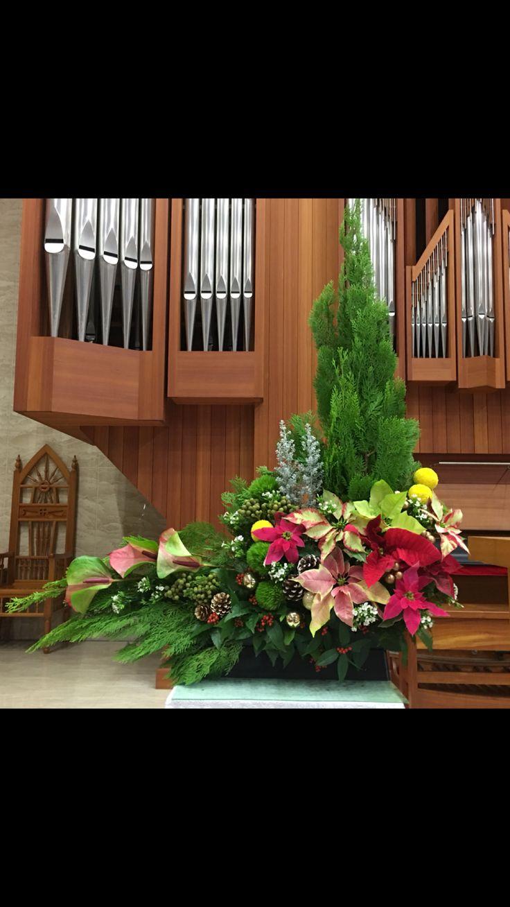 2017.12.17 主日插花 01 Flower arrangements for the church  教会のフラワーアレンジメン