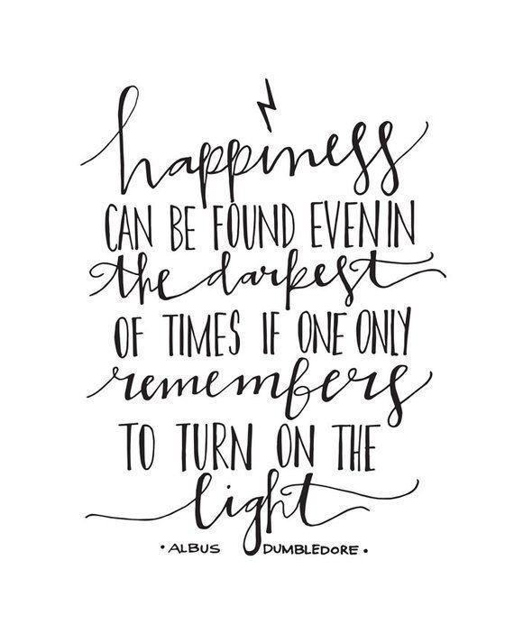 harry potter albus dumbledore quote hand lettered art