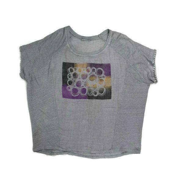 Блузка укороченная из льна с коротким рукавом и  апликацией вставкой  Сайт ЖЕНЩИНА   http://polnymledi.ru