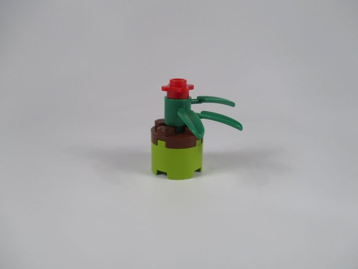 LEGO green flower pot