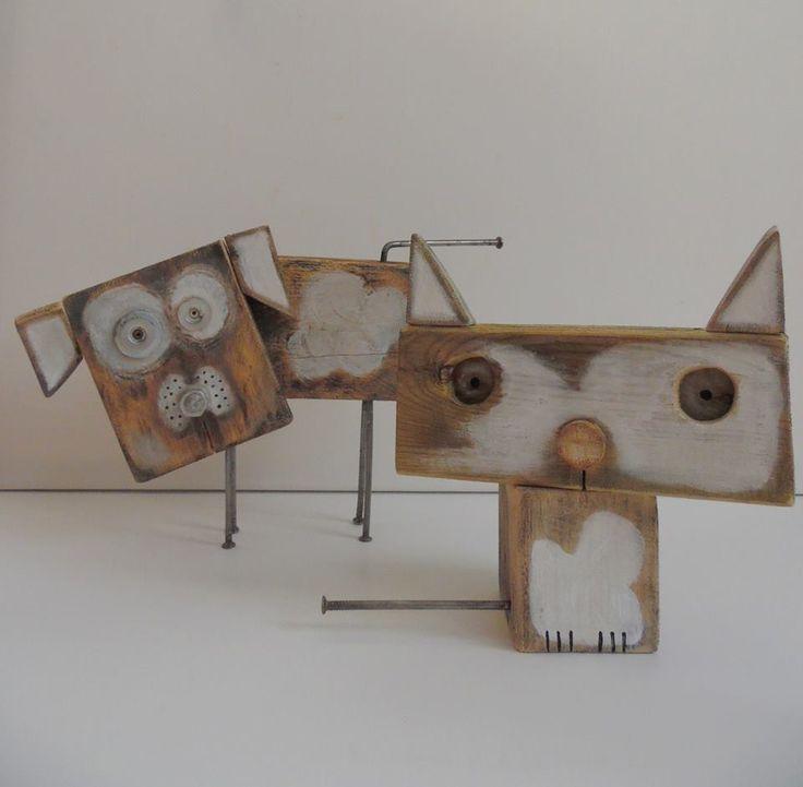 Fakutya, facica! Wooden dog, wooden cat! Diy