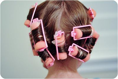 The Three Sweet Peas: Sponge Rollers: How to achieve the Perfect Spiral Curl