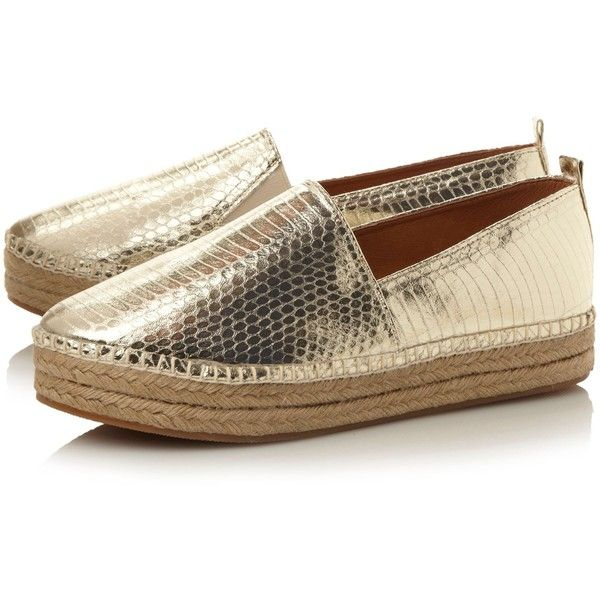 Steve Madden Pacificc SM slip on espadrille shoes Gold - For all the latest ranges from the best brands go to House of Fraser online