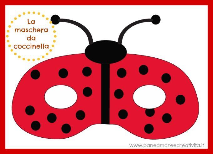 Carnevale con i bambini: la maschera da coccinella pronta da stampare
