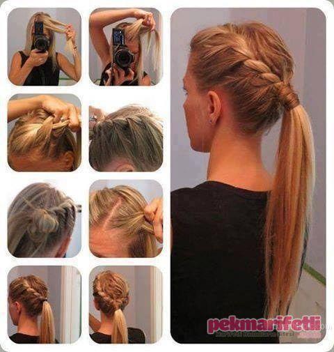 Önü burgulu atkuyruğu yapımı | Saç Modelleri | Pek Marifetli!