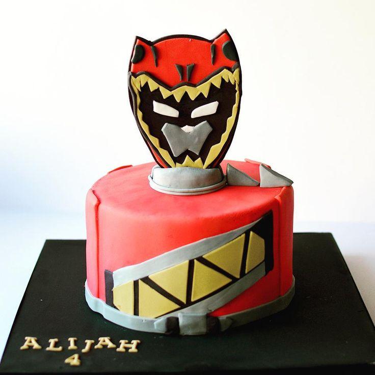 Power rangers ⚡ ⚡ Happy birthday Alijah!  #customcake #cakestagram #fondant #powerrangers #red #kosher #sweet #kidsbirthday #cookiesandcream @alexis_stoudemire @amareisreal