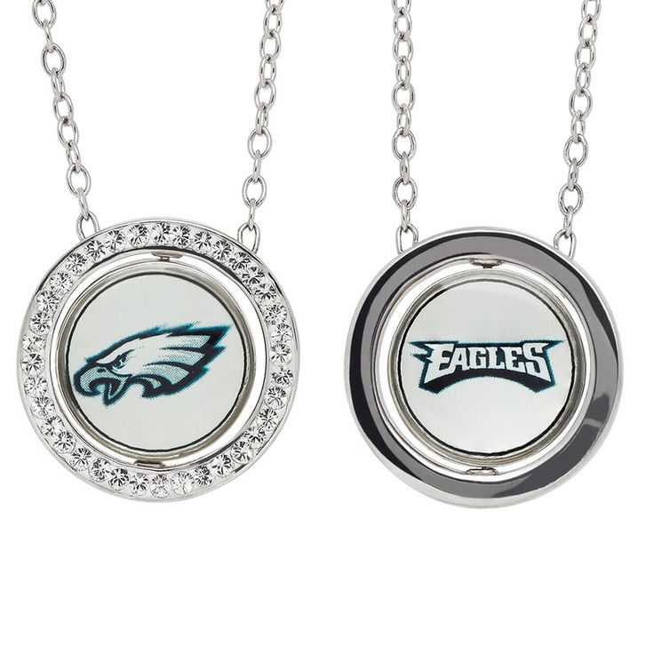 """Philadelphia Eagles Women's 17"""" Sterling Silver Necklace with Pendant"""
