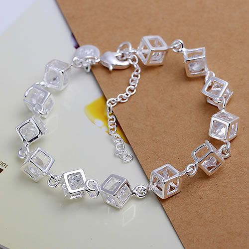 Free shipping silver plated jewelry bracelet fine fashion bracelet top quality wholesale and retail SMTH241-in Chain & Link Bracelets from Jewelry & Accessories on Aliexpress.com   Alibaba Group