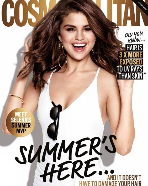 Selena Gomez picture for Pantene inside Cosmopolitan Australia Magazine [February 2018] Image of Selena Gomez for Pantene inside the revi …
