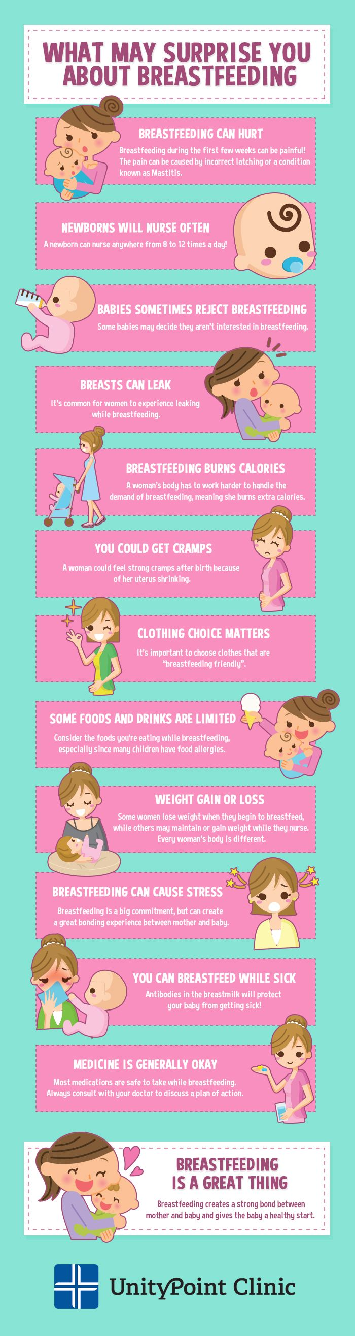 Check out these 12 surprising things about breastfeeding from UnityPoint Clinic!