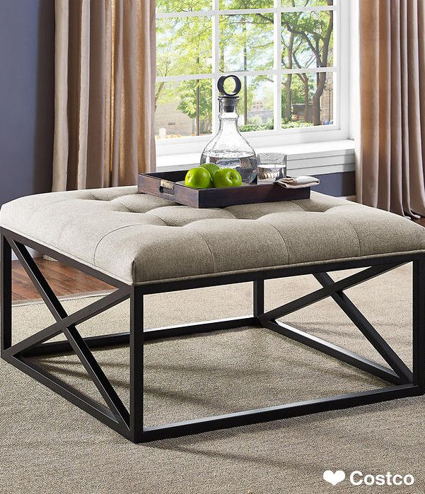 Modern Industrial Style Combines Aesthetics With: The Grafton Ottoman Combines Modern Styling And Industrial