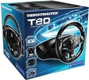 http://www.satelectronics.co.za/ProductDescription.aspx?id=2576403. Thrustmaster Racing Wheels T80 Racing Wheel PlayStation® 3 / PlayStation® 4. The First PlayStation 4 officially licensed Racing wheel, for all Racing games on PlayStation®4 starting with the first one: DRIVECLUB™. Price: R 1 359.00