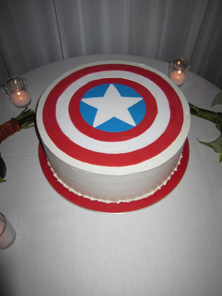 Stephanie, Roswell is asking if he can have his own, tiny Captain America birthday cake.