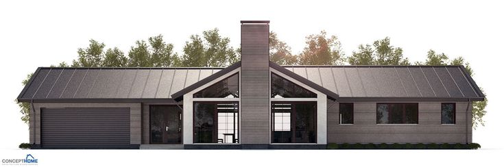 Double Detached Carport With Vaulted Ceiling : Modern house plan with vaulted ceiling to wide lot double
