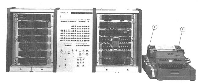 Univac Digital Trainer - [ The first computer I ever used. (1968) The UDT was totally useless for anything other than training in machine language programming, a bizarre specialty even in those days. It was 'state of the art' technology - transistors instead of vacuum tubes. - PSC ]