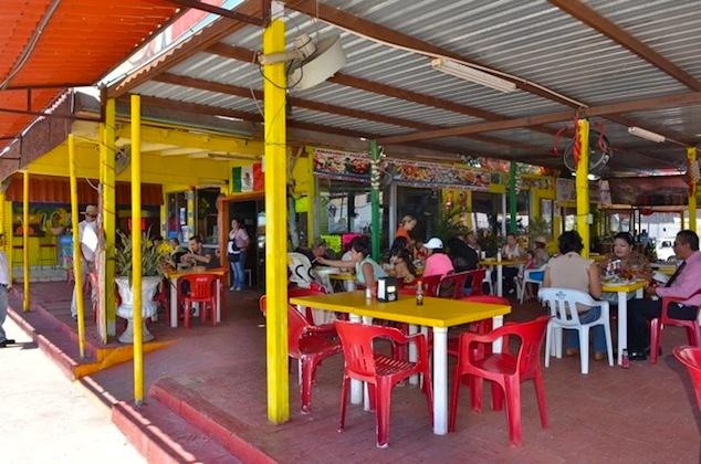 Dining hall at Mariscos La Morena restaurant in San Felipe, Mexico.  #MariscosLaMorena