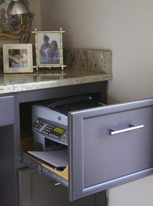 how to hide a printer home office - Google Search
