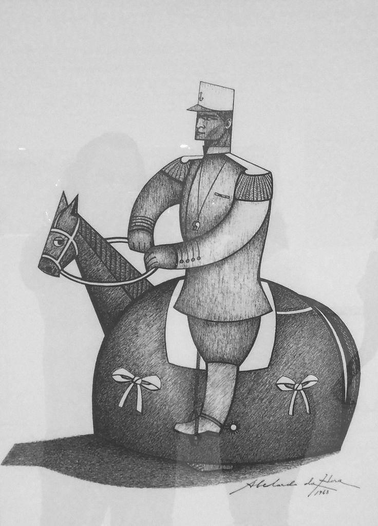 Gravura do artista pernambucano Abelardo da Hora - O Cavalo Marinho - Manifestação da Cultura Popular