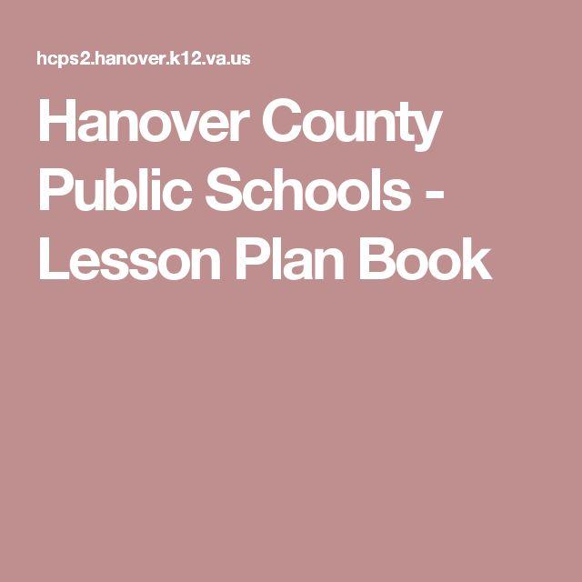 Hanover County Public Schools - Lesson Plan Book