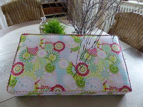 Mit Stoffen von Tante Ema nähe ich schöne bunte Sitzkissen für unsere Minilounge. Einfach nachzunähen.
