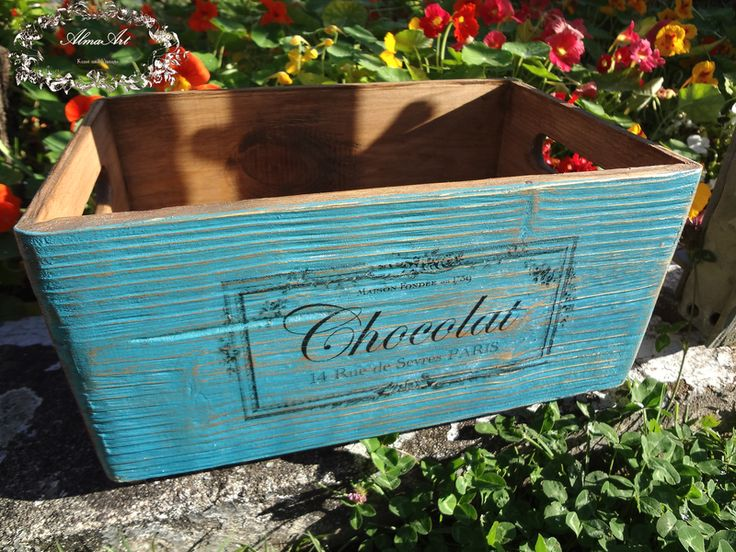Kisten & Boxen - Holzkiste Shabby Vintage bunt - ein Designerstück von AlmaArt1 bei DaWanda