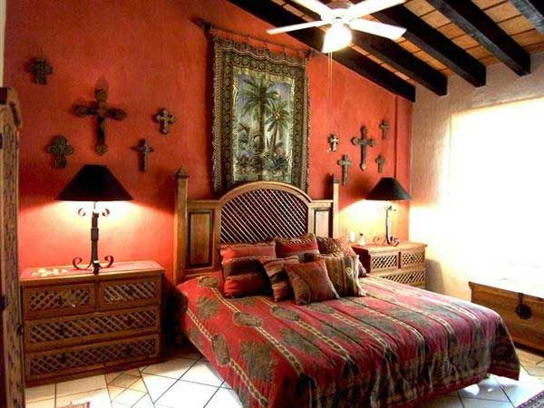 Mexican Theme Wedding Further Rustic Western Bedroom