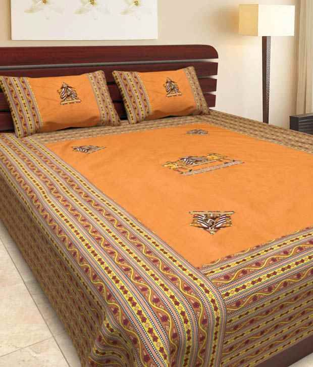 Traditional Patch Work Bed Sheet