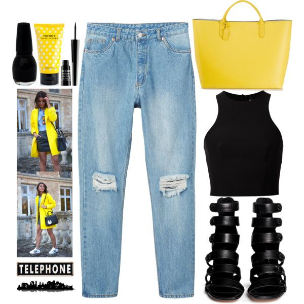yellow stone by johanna-dn on Polyvore featuring T By Alexander Wang, Monki, 10 Crosby Derek Lam, Smythson, Lord & Berry, Marc Jacobs and Piaget