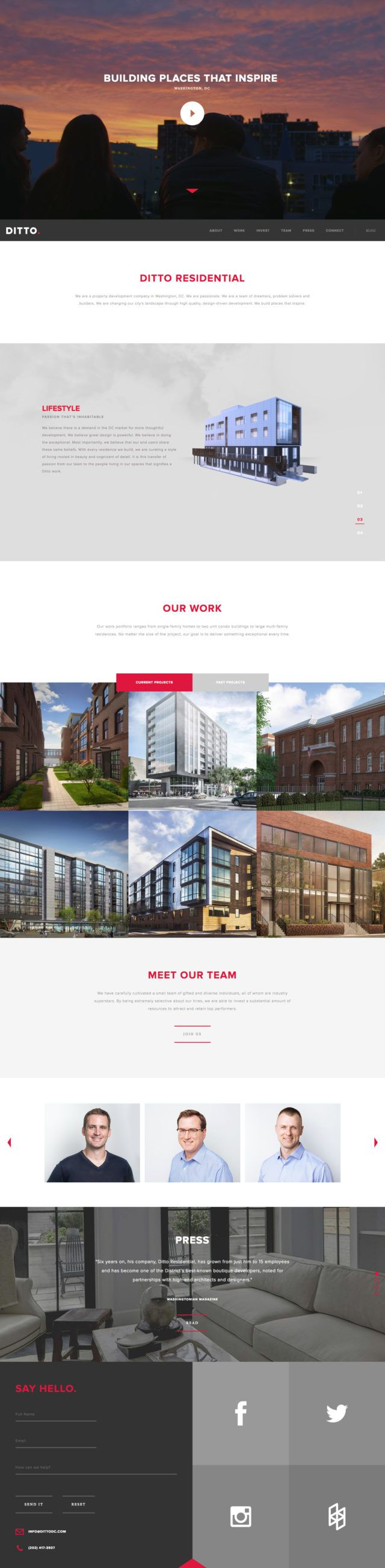 Ditto Construction Firm Website Design 2018 #constructionwebsites #contractorwebsite #contractors #website
