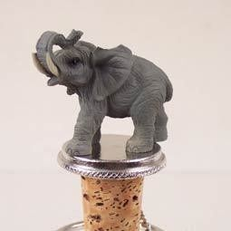 Elephant Wine Bottle Stopper - ATB16 by Conversation Concepts. $16.09. Great Wine Lover Gift. Fits a Standard Wine Bottle. Die Cast Poly Resin Elephant is Hand Painted. Wine Safe Cork. Pewter Base with Ring and Chain to keep with bottle. Your favorite elephant will be the toast of the town on these pewter-base, cork bottle stoppers, designed to fit any standard bottle. Each Stone Resin, Hand Painted elephant Wine Stopper comes with it's own velvet drawstring pouch - ideal fo...