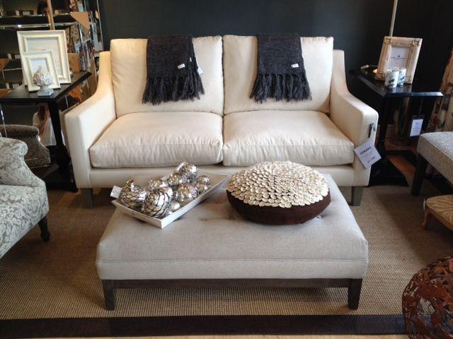 Sorano sofa in izan crudo puff pisa grande buttoned footstool both from ka international - Ka internacional ...