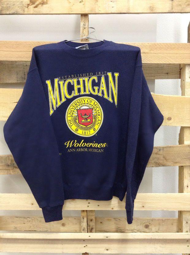 Vintage College Sweatshirt- University of Michigan