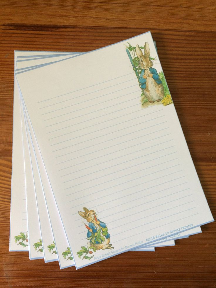 Cute Peter Rabbit Themed Stationery Writing Paper Note Paper by WalksInBeautyPaperie on Etsy
