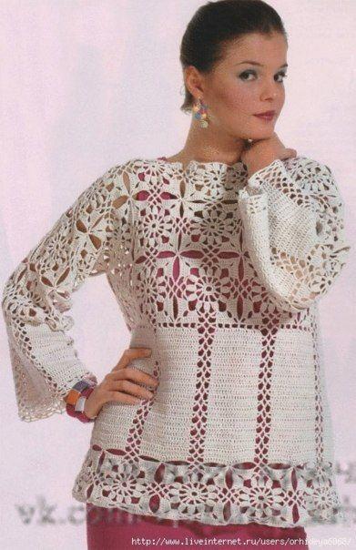 Delicadezas en crochet Gabriela: Blanco Cardigan