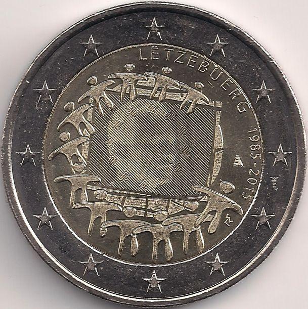 Motivseite: Münze-Europa-Mitteleuropa-Luxemburg-Euro-2.00-2015-Europaflagge