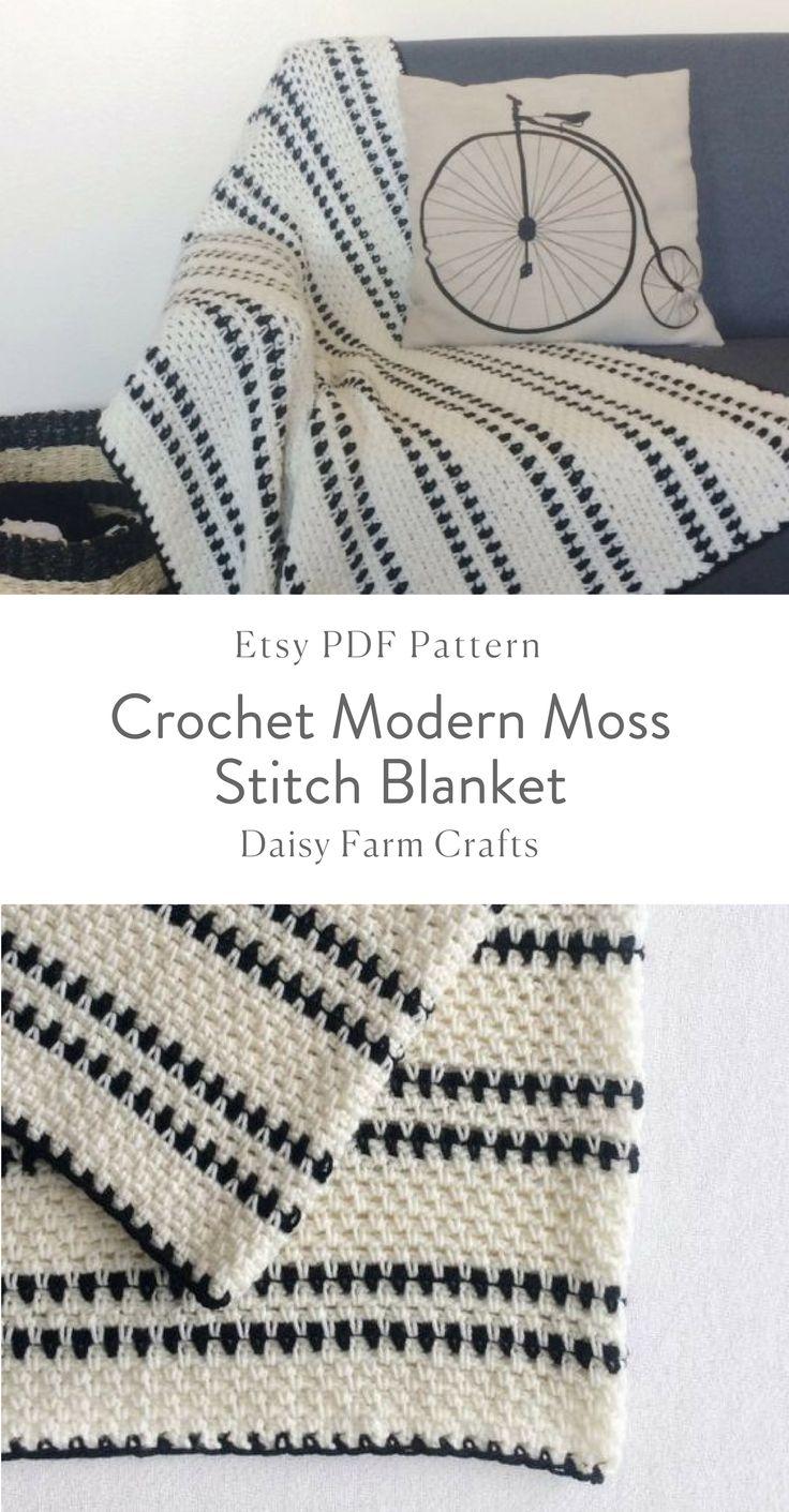 871 best Mantas de crochet images on Pinterest   Crochet afghans ...