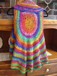 TEJIDOS CROCHET: saco circular crochet