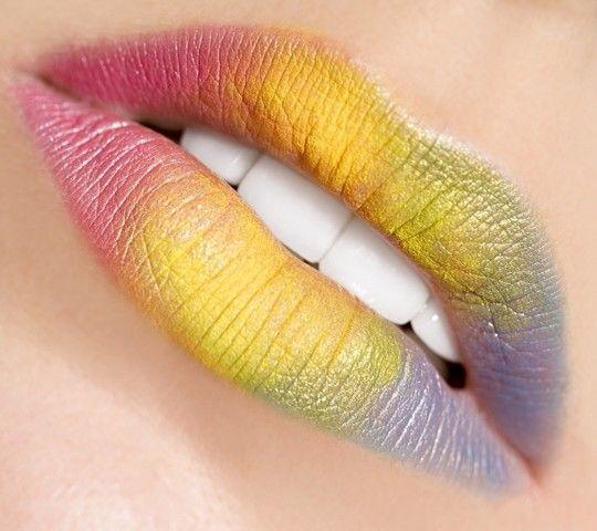 Labios de arco iris