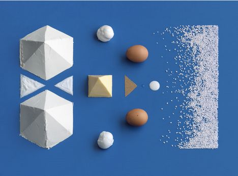 Ikea cookbook, using a simple visual language to represent a recipe (complex information)
